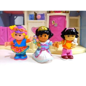 """3 Fisher Price Little People Bendable Figures 3"""""""